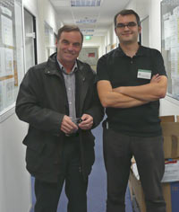 Nicolas and Bernard Hinault in Winter 2008
